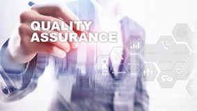 The Concept of Quality Assurance and Impact on Businesses. Quality control. Service Guarantee. Mixed media. The Concept of Quality Assurance and Impact on vector illustration
