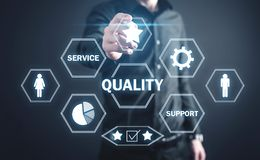 Concept of Quality. Internet, Technology, Business royalty free stock image