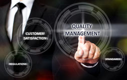 Concept For Quality Management. On Virtual Screen Stock Photos