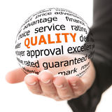Concept of quality Royalty Free Stock Image