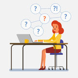 Concept of question. Royalty Free Stock Photos