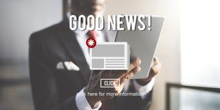 Concept quotidien d'annonce de bulletin d'information d'actualités de marchandises images libres de droits