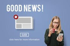 Concept quotidien d'annonce de bulletin d'information d'actualités de marchandises Photos stock