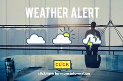 Concept quotidien de l'information de temps de climat vigilant de prévision Photo stock