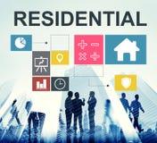 Concept résidentiel de diagramme de maison d'investissement de placement en valeurs mobiliéres de propriété Image libre de droits