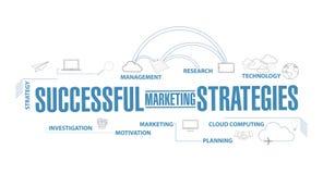 Concept réussi de plan de diagramme de stratégies marketing Illustration Libre de Droits