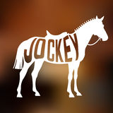 Concept of racing horse silhouette with text Royalty Free Stock Photo