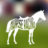Concept of racing horse silhouette with text Stock Image