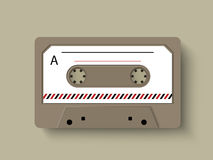 Concept of a radio cassette. Stock Image