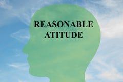 Concept raisonnable d'attitude illustration libre de droits