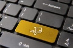 Concept rapide de bouton de clavier de la livraison de boîte Photo stock