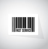 concept rapide de signe de code barres de service Photo libre de droits