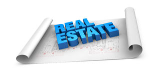 Concept of real estate Royalty Free Stock Images