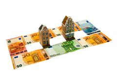 Real estate and money Royalty Free Stock Photos