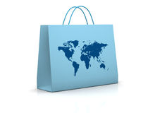 Concept of real and online shopping Royalty Free Stock Photography