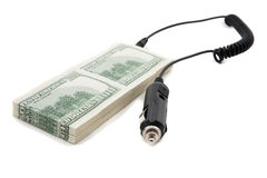 Concept of recharging your cash royalty free stock photography