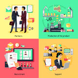 Concept of Recruiting Support and Partnership Stock Image