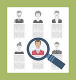 Concept Recruitment Specialists vector illustration
