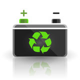 Concept recycle automotive car battery design on white background Royalty Free Stock Photos