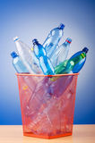Concept of recycling with  bottles Stock Photos