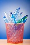 Concept recycling met flessen Stock Foto's