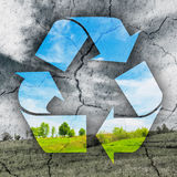Concept of recycling symbol Royalty Free Stock Image