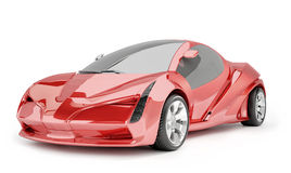 Concept red car Stock Photography