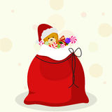 Concept of red gift sack. Stock Image
