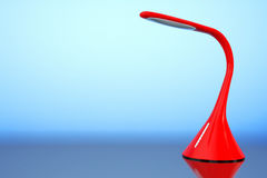 Concept of Red Led Sensor Desk Lamp. 3d Rendering Royalty Free Stock Photo