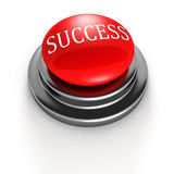 Concept red success button on white background Stock Images
