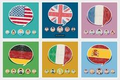 Concept reis of het bestuderen van talen Stock Fotografie