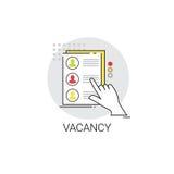 Concept rekruterings het Kandidaat van Job Position Vacancy Icon Business Stock Foto