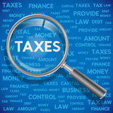 Concept related to taxes. Royalty Free Stock Image