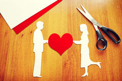Concept of relations between man and woman Stock Images