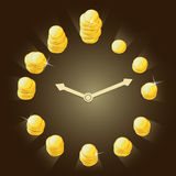 Concept  relationship between time and money Stock Photos