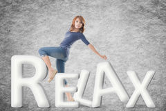 Concept of relax Stock Photo
