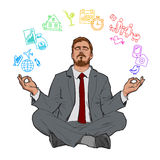Concept of relax and work balance. Stock Photography