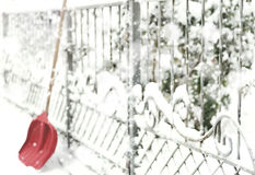 Concept of removing snow Royalty Free Stock Image
