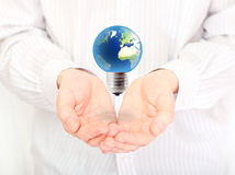 Concept of renewable energy future. Royalty Free Stock Photos