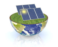 Concept of renewable energy Royalty Free Stock Image