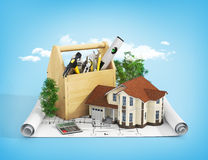 Concept of repair and building house. Stock Photography