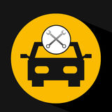 Concept repair car tools icons Stock Images