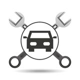 Concept repair car tools icons Royalty Free Stock Images