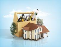 Concept of repair house. Stock Photos