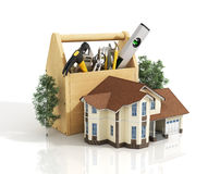 Concept of repair house. Repair and construction of the house. Stock Photos