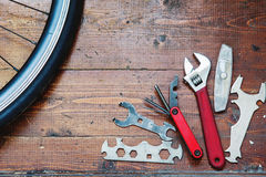 Concept of repairing or maintenance bike Stock Photo