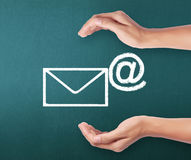Concept representing email Stock Images