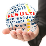 Concept of results in business Royalty Free Stock Images
