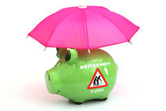 Concept of retirement savings fund Stock Photos
