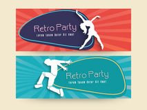 Concept of retro party header or banner. Royalty Free Stock Photos